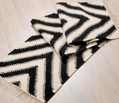 Black And White Striped Runner Rug White Runner Rug Home Rugs Ideas