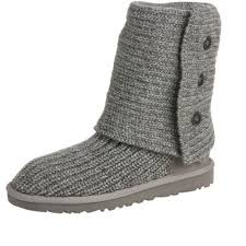 ugg sweater slippers sale 40 ugg boots grey knit ugg boots from nicolette s closet on