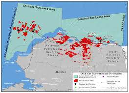 Maps Alaska by Arctic Ocean Oil Leases Proposed Shell Oil Wells Beaufort Sea