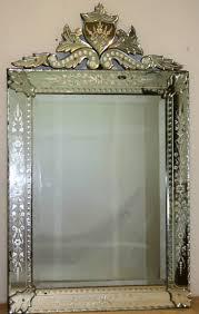 Venetian Mirrored Bedroom Furniture Rectangular Venetian Mirror With Cartouche Venetian Mirrors