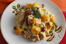 turkey and squash thanksgiving risotto on closet cooking