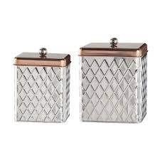 rustic kitchen canister set detrit us global amici square diamond 2 piece kitchen canister set reviews
