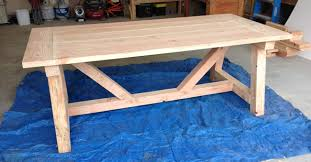 ana white rustic farmhouse table with distressed finish diy