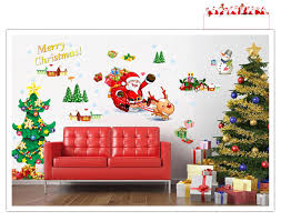 christmas tree wall decals christmas lights decoration