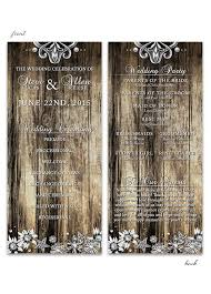 rustic wedding program wedding programs archives lot paperie