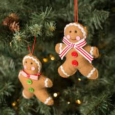 gingerbread ornaments 4 5 felt gingerbread ornaments set of 2 3714101 craftoutlet