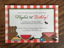 picnic birthday invitations free printable invitation design