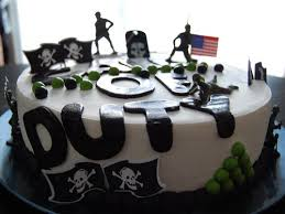 call of duty birthday cake ghost call of duty themed happy birthday cake by bobb