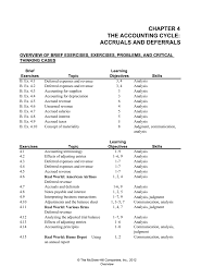 chapter 4 the accounting cycle accruals and deferrals