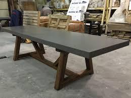 concrete top outdoor table concrete dining table conception lyon beton alps beut co uk 13
