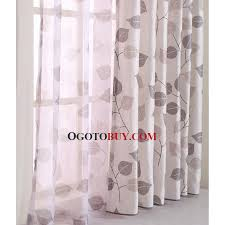 Natural Linen Curtain Fabric Natural Linen Cotton Blend Fabric Modern Country Curtain Printed