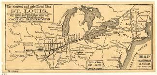 Map Toledo Ohio by The Toledo Wabash U0026 Western Rr System Map