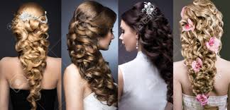 bridal wedding hairstyle for long hair wedding hairstyle stock photos royalty free wedding hairstyle