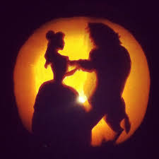 princess belle beauty and the beast pumpkin carving silhouette