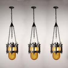 Bullet Light Fixture Antique Revival Four Light Riveted