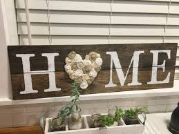 home sign rustic wall decor love sign shabby chic home