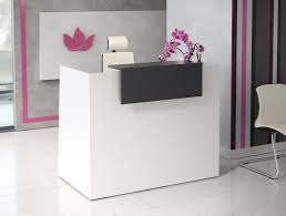 Small Reception Desk Sove Small Reception With Riser In Cherry And Walnut