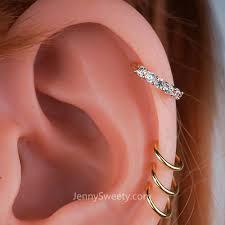 hoop earring on cartilage zircon daith earring cartilage septum ring nose ring hoop