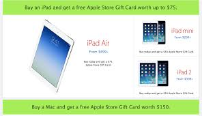 ipad air 2 best deals black friday online apple offers free gift cards for black friday