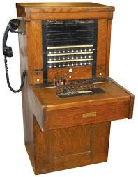 Switchboard Cabinet Telephone Switchboard American Electric Co Monotype Orig Cond