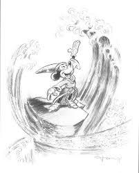 fernandez tony original pencil drawing mickey mouse the