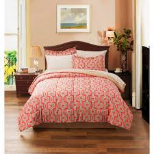 addison trellis reversible complete bed in bag bedding set