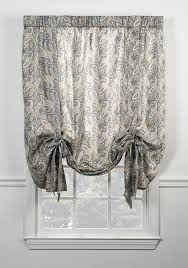 Tie Up Valance Curtains Paisley Print Curtains Window Toppers