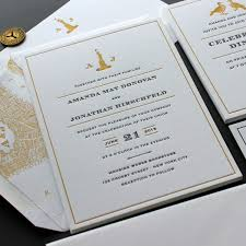 letterpress invitations vintage new york city sesame letterpress design