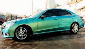 mercedes with blue green chameleon paint vehicles dip
