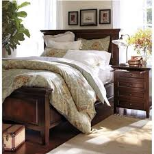 Pottery Barn Burlington Vt Bedroom Design Chic Wooden Bed In Espresso And Nightstand By