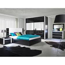 cdiscount chambre complete adulte lit noir et blanc laque achat vente lit noir et blanc laque