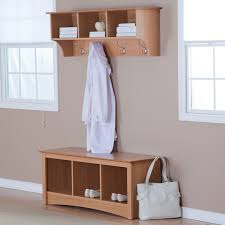 Entryway Cubbie Shelf With Coat Hooks Furniture Wooden Coat Hanger With Three Shelf And Steel Hook Plus