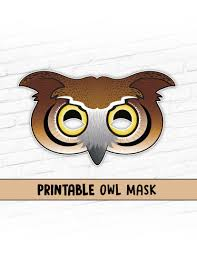 Halloween Owl Clipart by Owl Mask Great Horned Owl Mask Printable Mask Halloween