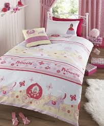 girls princess bedding once upon a time princess and horses double duvet cover bed set