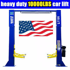 10 000lbs car lift l1100 2 post lift car auto truck hoist free