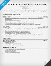 data entry resume professional resume sle for data entry clerk position