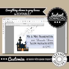 editable halloween envelope template envelope addressing halloween