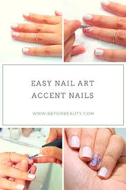 easy nail art for beginners metallic accent nails be for beauty