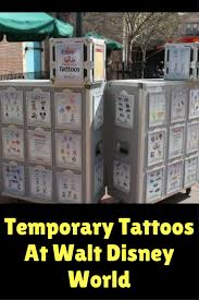 temporary tattoos at walt disney world