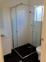 semi frameless shower screens sydney semi frameless shower screen corner opening sliding