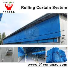 Pulley Curtain Systems Ventilation System Rolling Curtain System For Automatic Poultry