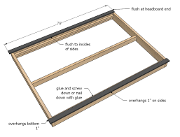 Build Your Own Platform Bed Frame Plans by Ana White Hailey Platform Bed Diy Projects