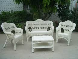 White Patio Furniture Sets White Wicker Patio Furniture Outdoor The Kienandsweet Furnitures