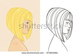 drawing of bob hair men women fashion sunglasses hand drawing stock vector 287085632