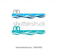swimming pool logo design pool logo stock images royalty free