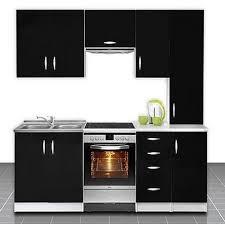 cuisine equipé pas cher cuisine équipée de 2m20 oxane noir achat vente cuisine complète