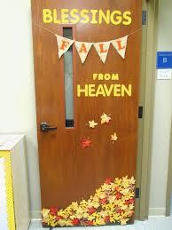 pumpkin door decoration 41 easy fall decorating ideas classroom door fangtastic students