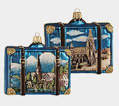 vienna austria travel suitcase blown glass