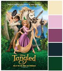 poster palette tangled fairy tale