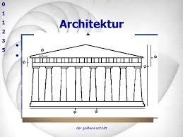 der goldene schnitt architektur fesser christian gojak ppt herunterladen